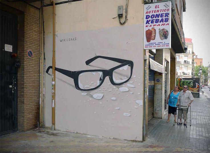 Escif, Wikileaks, Valencia - unurth | street art