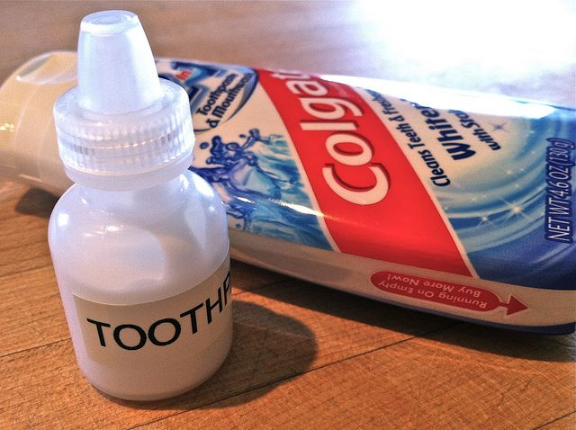 Eyedropper Bottle Filled with Toothpaste by Brian's Backpacking Blog, via Flickr