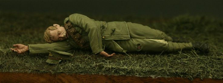 Wounded Artillery gunner from the Action at Nery BigSet. Click on the pic for more details