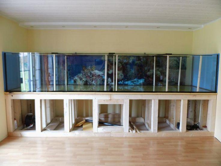 Aquarium 430x100x80cm aus 19mm Glas mit einer Frontscheibe aus Weißglas