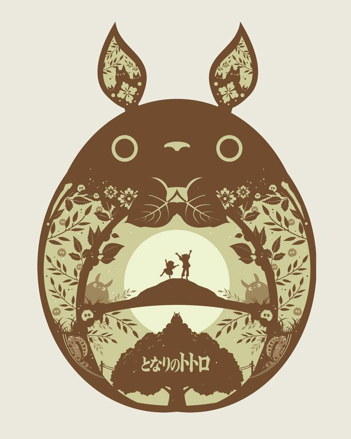 Papercut Style Ghibli Posters -byMichael RogersAll 3 are available for sale at his Etsy Shop for $38.