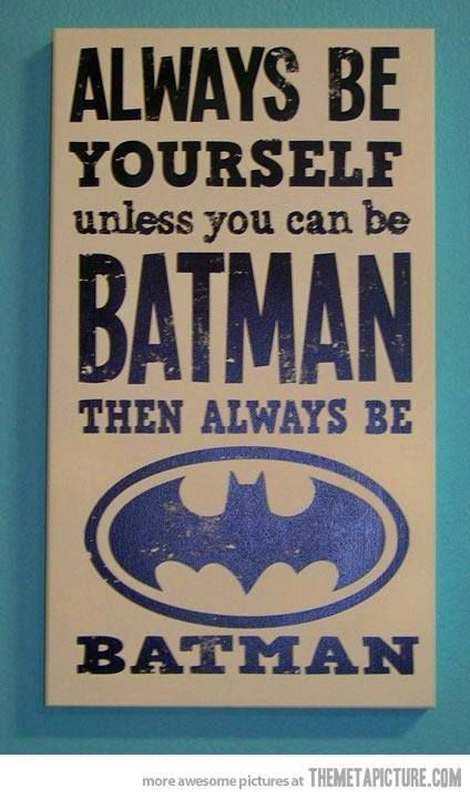 So cute for my boys batman room