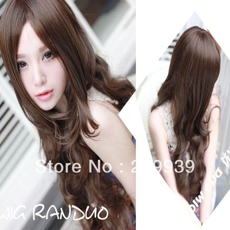 Кк 0040 Новый Сексуальный Женщины Девушки Мода Стиль Волнистые парик Длинные Волосы Полный Парики Цвета