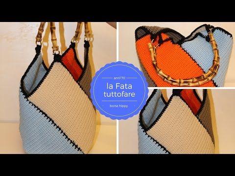 Questa borsa estiva è veramente utile perla primavera estate, proprio adatta per le persone principiantiche cominciano a progettare borse: viene lavorata auncinetto