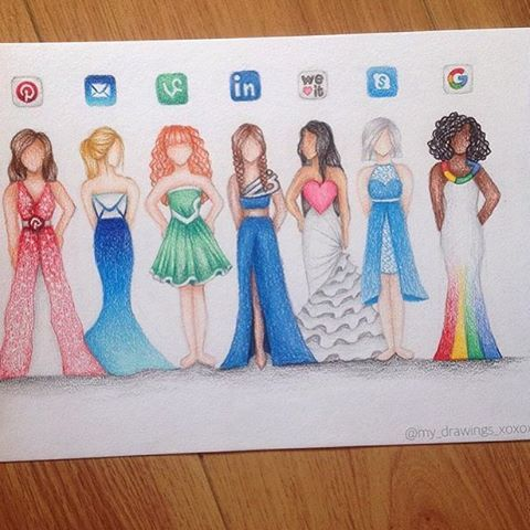 Social Media Dresses Part 2 by: @my_drawings_xoxox ✏️ Check out Part 1 as well…