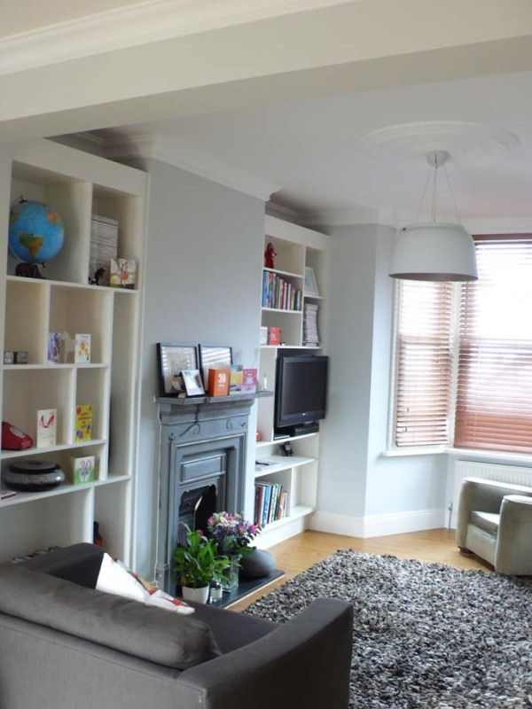 Lounge shelves home for Victorian terrace living room ideas