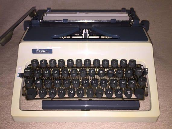 Vintage portable typewriter Erika 42 mechanische