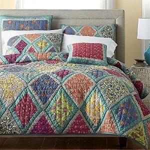Boho Quilt Bohemian Quilt Reversible Quilt Patchwork Quilt King ...