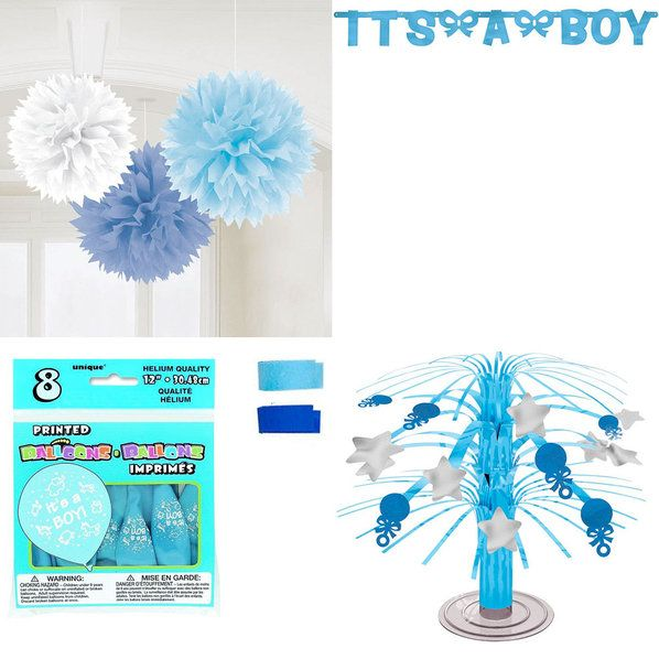 Baby Shower Boy Standard Decorating Kit From Wholesale Party Supplies Is  The Perfect Touch To Your General Shower Supplies Birthday Bash