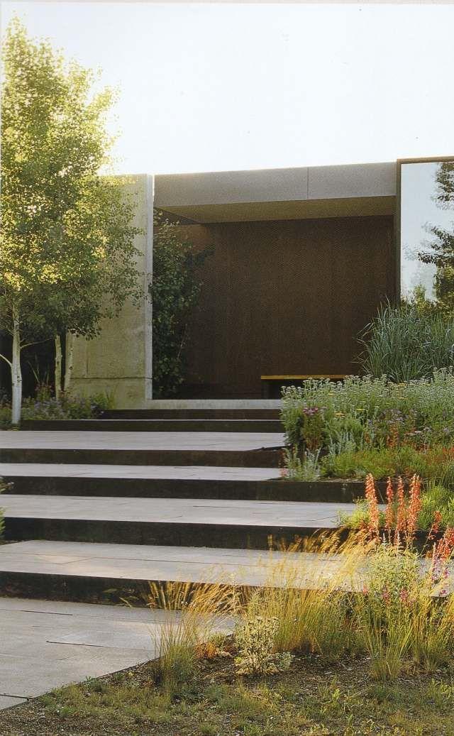 Am nagement paysager moderne 104 id es de jardin design garden steps land - Amenagement jardin moderne ...