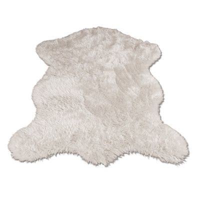 Walk On Me Polar Bear Pelt Faux Fur Shag Area Rug | AllModern