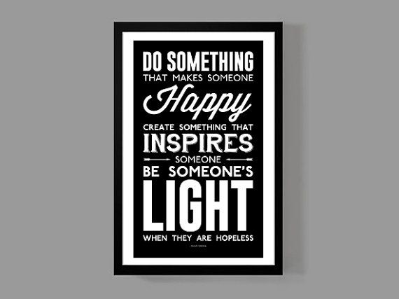 Dave Grohl Custom Poster - Be Someone's Light When They Are Hopeless - A reminder, Inspirational, Motivational