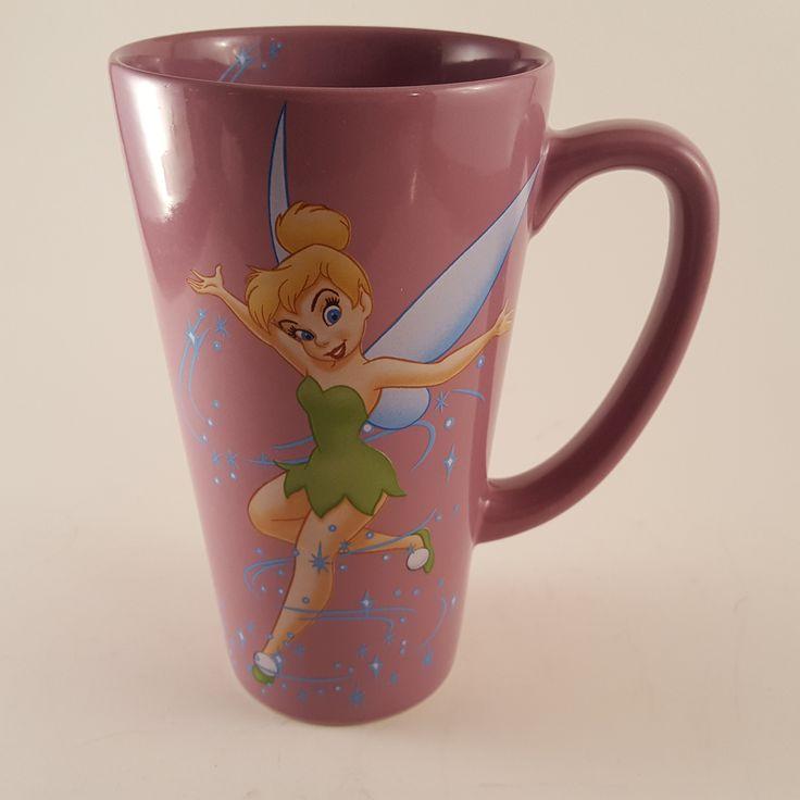Disney Store Purple Tinkerbell Sprinkling Pixie Dust Tall Coffee Mug Tea Cup