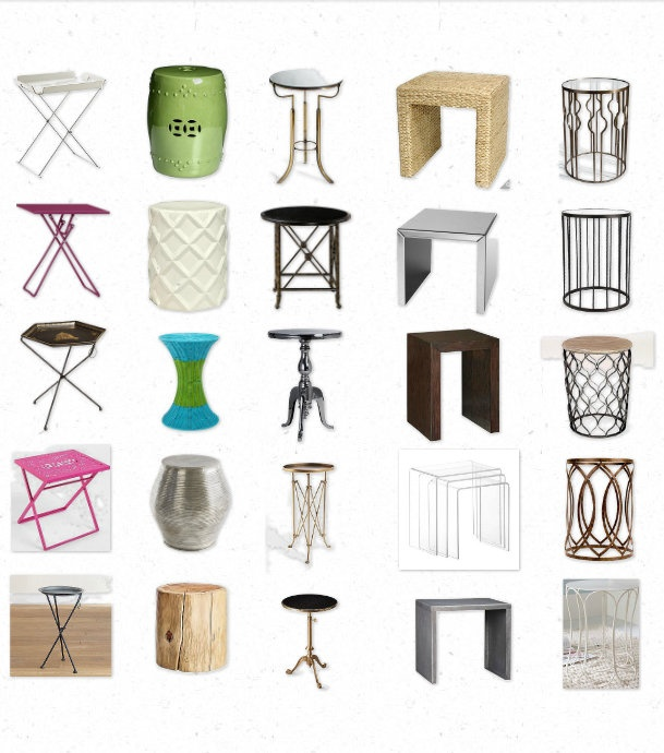Love Your Space: 25 Awesome (and affordable!) side tables in all shapes and sizes: Spaces, Houses, Affordable Side, Side Tables1, Parsons Styl Tables, Shape, Tables Wraps, 25 Awesome, Size