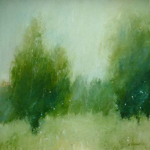 Trees #2 | www.ericakirkpatrick.co.uk Original oil painting … | Flickr