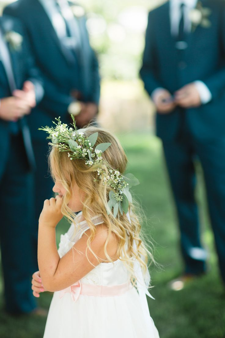 Beautiful Rustic Flower Girl Halo Appleblossom-flowers.com Photo by Gina Zeidler