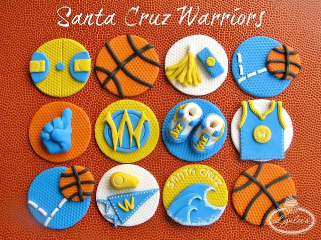Santa Cruz Warriors Cupcake Toppers, via Flickr.