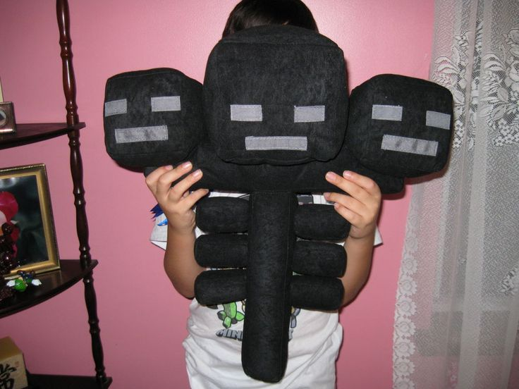 Make a Wither Plushie from Minecraft  @Megan Maxwell