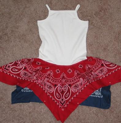bandana crafts | Yesterday I made two bandana dresses. One is a Fourth of July dress ...