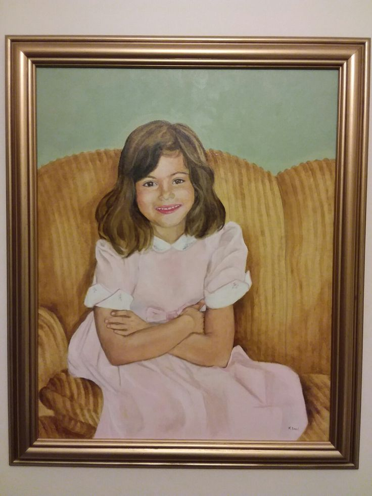 Portrait of Lisa. Oil on canvas painted by  Nellie