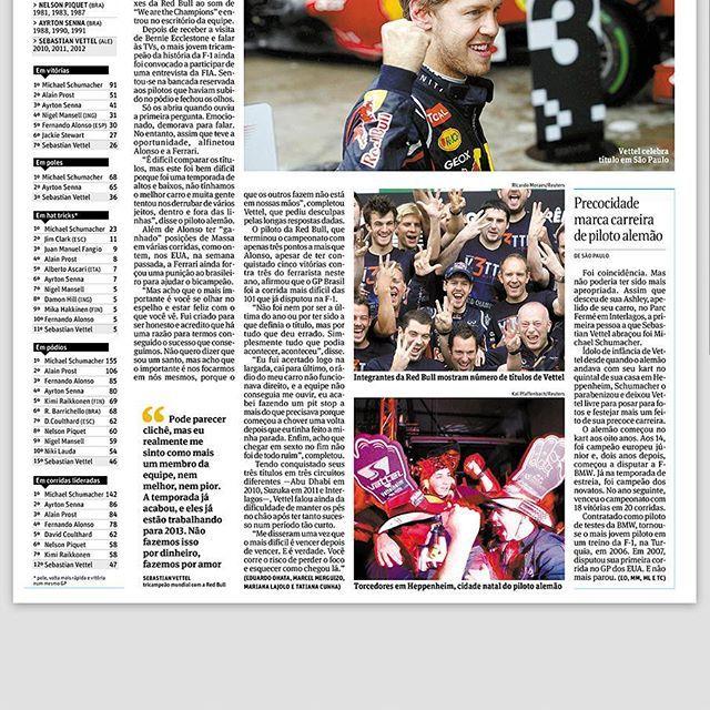 Vettel (1/2)  Tricampeonato do Sebastian Vettel. O meu primeiro infográfico sobre Fórmula 1. Publicado em 2012 ////// Vettel Three times World Champion. My first infographic about Formula 1. Published in 2012  #sebastianvettel #vettel #redbull #redbullracing #f1 #formula1 #infographic #infografico #jornalismo #journalism #folha #folhadesaopaulo #datavisualization #statistics #interlagos #brasil #2012