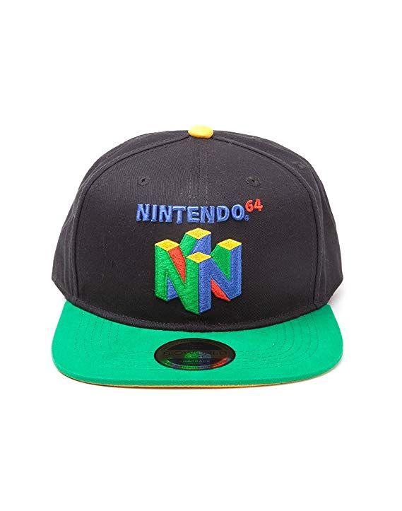 c4b75e019 Nintendo Original N64 Logo Snapback Baseball Cap, One Size | Multi ...