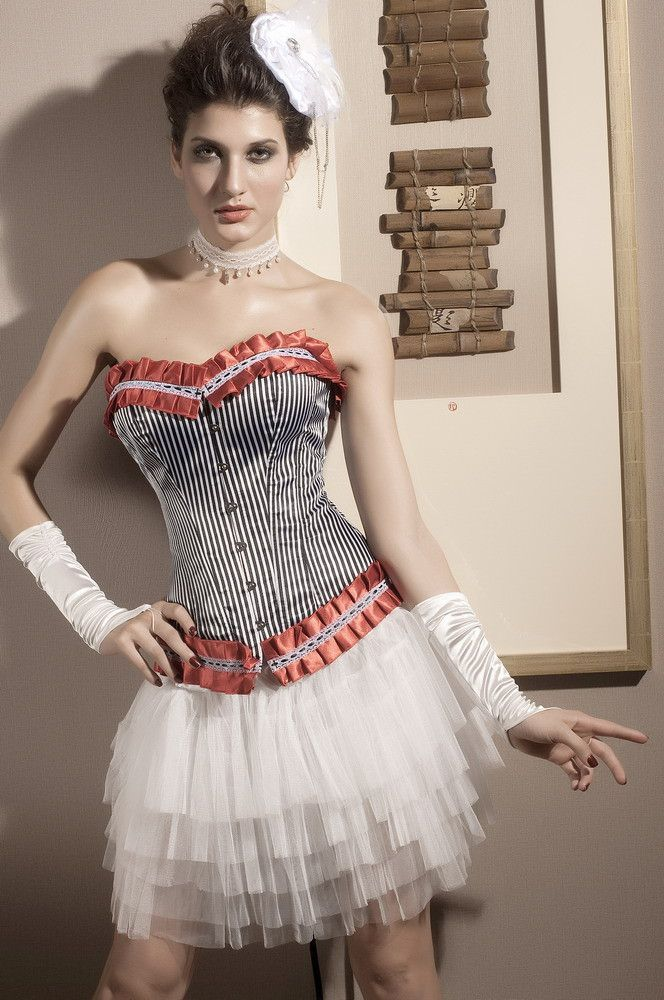Corsets Ruffle Scarlet Corset Pas Cher www.modebuy.com @Modebuy #Modebuy #CommeMontre #me #sexy #commentalways