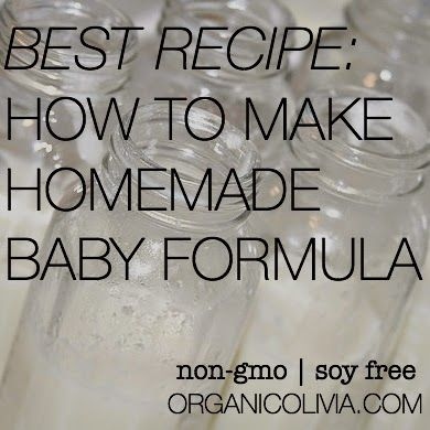 Many(or most) baby formulas have GMO's and unhealthy preservatives in them.  This could be another option for new mothers.  The Best Recipe For Homemade Baby Formula | Organic Olivia,