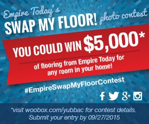 Empire Today Sweepstakes http://www.planetgoldilocks.com/home_garden.htm  You could win $5,000* of flooring from Empire Today for any room in your home with the Swap My Floor Photo Contest! #contest #sweepstakes #homeimprovementsweepstakes  #empiretoday