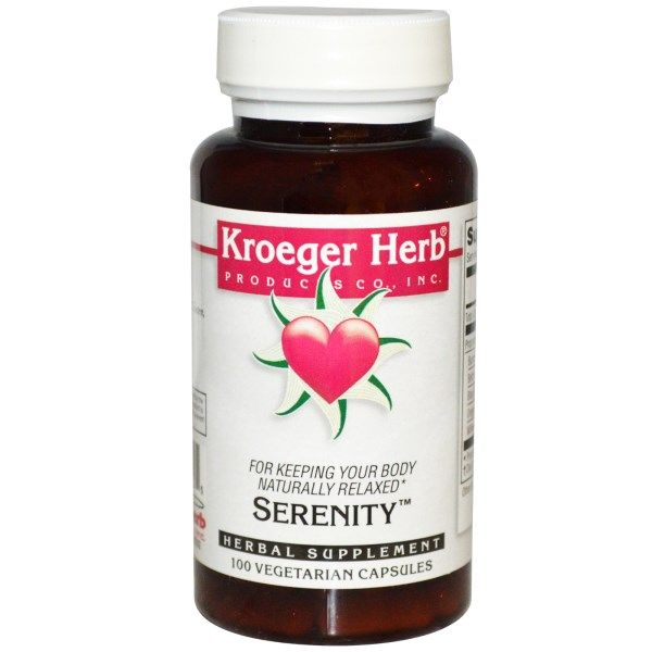 Kroeger Herb Co, Serenity, 100 Veggie Caps  #stress #formula #support #balance #management #iherb #thingstobuy #shopping #relief