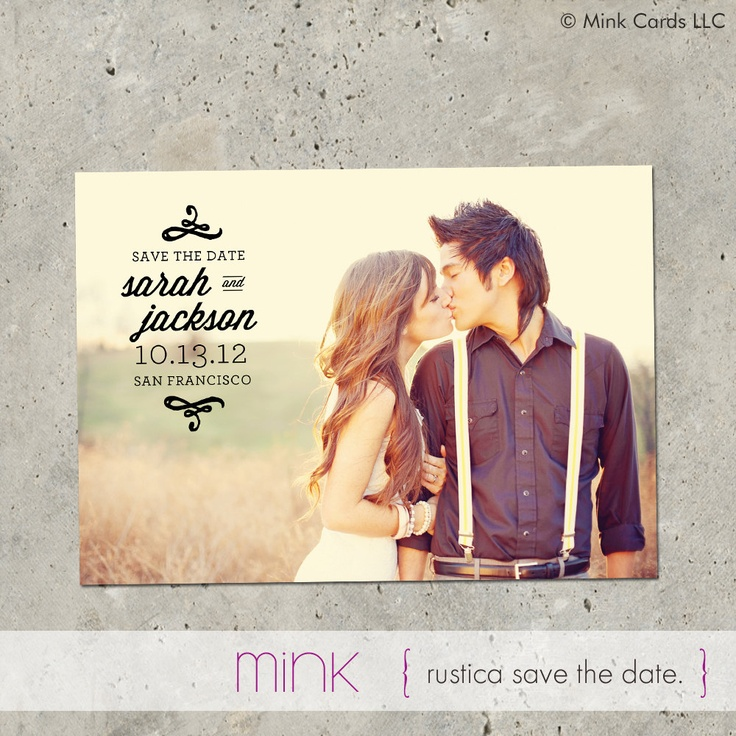 save the date photo card Rustica by minkcards on Etsy. $64.00, via Etsy.