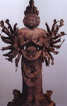 Japanese National Treasure, Standing Statue of Senju Kannon 千手観音立像(法性寺 Statues and Icons : More At FOSTERGINGER @ Pinterest