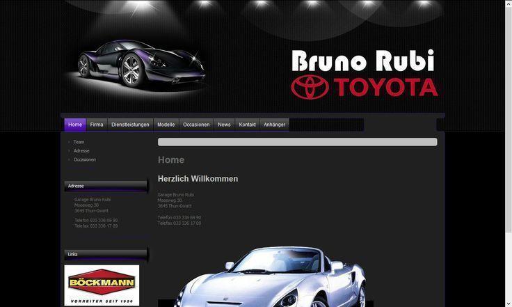 Professionelles Webdesign für alle die Autos lieben www.garage-rubi.ch – – – –