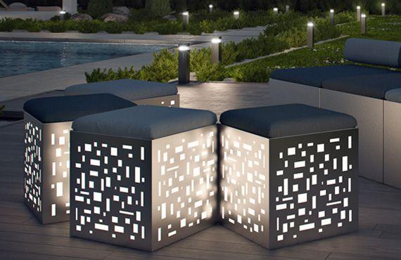 pouf lumineux d 39 ext rieur zed experience basileek pouf lumiere escalier ext rieur. Black Bedroom Furniture Sets. Home Design Ideas