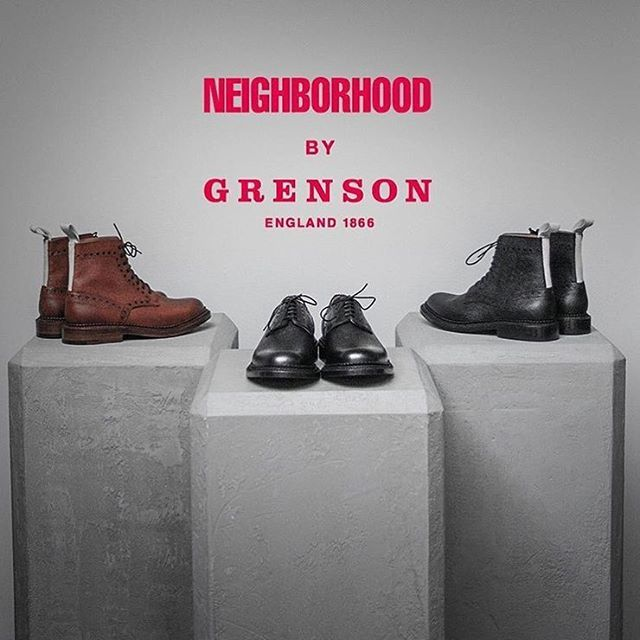 Our NEIGHBORHOOD x Grenson collaboration //  Thanks to our stockist @biginjapanstore