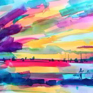Watercolor sunset January on my 2016 calendar available at elodyg.com  #watercolor #sunset #calendar #art #artist #nicaragua #sanjuandelsur #elodygyekisart #elodygyekisartist #art #instart #instartist #paint #painting #colorful #color
