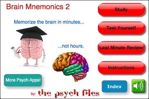 Studying for the AP psych test? The EPPP? Frustrated? Pulling your hair out trying to memorize what the medulla does, or what the difference is between an MRI and a PET?<p>This app has ALSO been used by students studying for the GRE and CLEP test as well as biology and anatomy tests - any test that requires students to memorize the key parts of the brain, neurons, neurotransmitters or brain scans. <p>There is no other app like this one. Developed by a Ph.D. psychologist, psychology teacher…