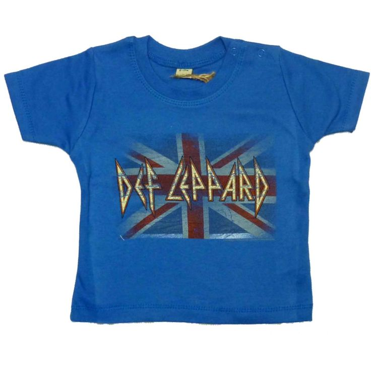 Def Leppard Union Flag Baby Toddler T-shirt 3-24 Months
