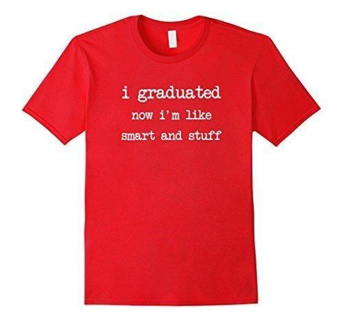 Mens Funny College High School Graduation Gift Senior 2017 Shirt Small Red
