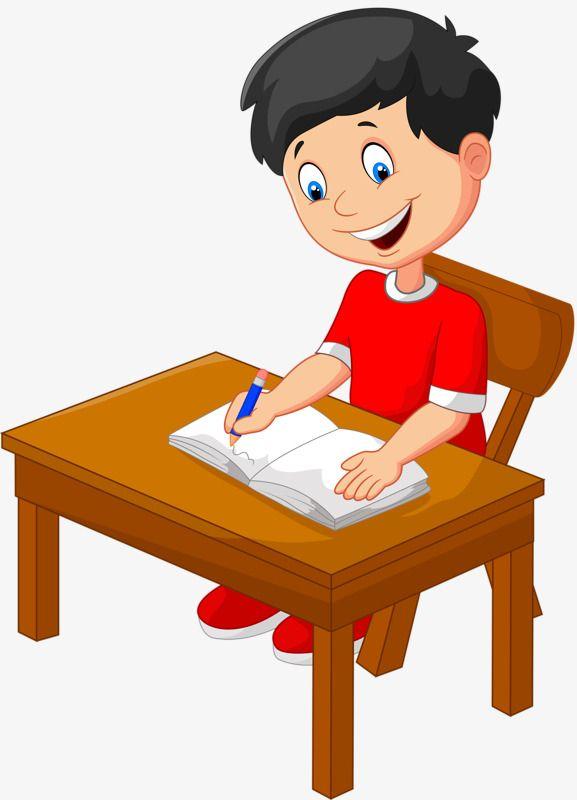 homework kids clipart