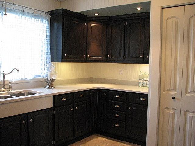 Black-Beadboard-Kitchen-Cabinets. Kitchen Best Paint For Kitchen Cabinets With Black Color Best Paint For Kitchen Cabinets Popular Kitchen Colors Kitchen Paint Colors Kitchen Cabinet