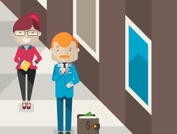 Flat hipster characters on Behance