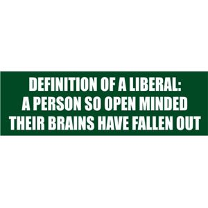 Definition of a liberal: A person so open-minded their brains have fallen out