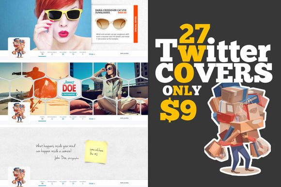 Check out 27 Premium Twitter Cover Designs by pavlushka on Creative Market
