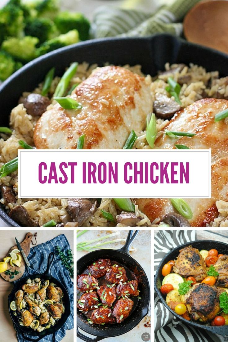 Check out the best chicken cast iron pan recipes, including some tips on how to use your cast iron skillet for cooking AMAZING fried chicken!
