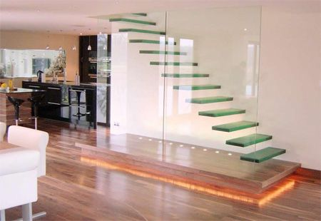 Make a promise to yourself TODAY to ALWAYS take the stairs!: Floating Stairs, Staircas Design, Staircases Design, Home Interiors Design, Stairs Decor, Glasses Stairs, Small Spaces, Modern Home, Floating Staircases
