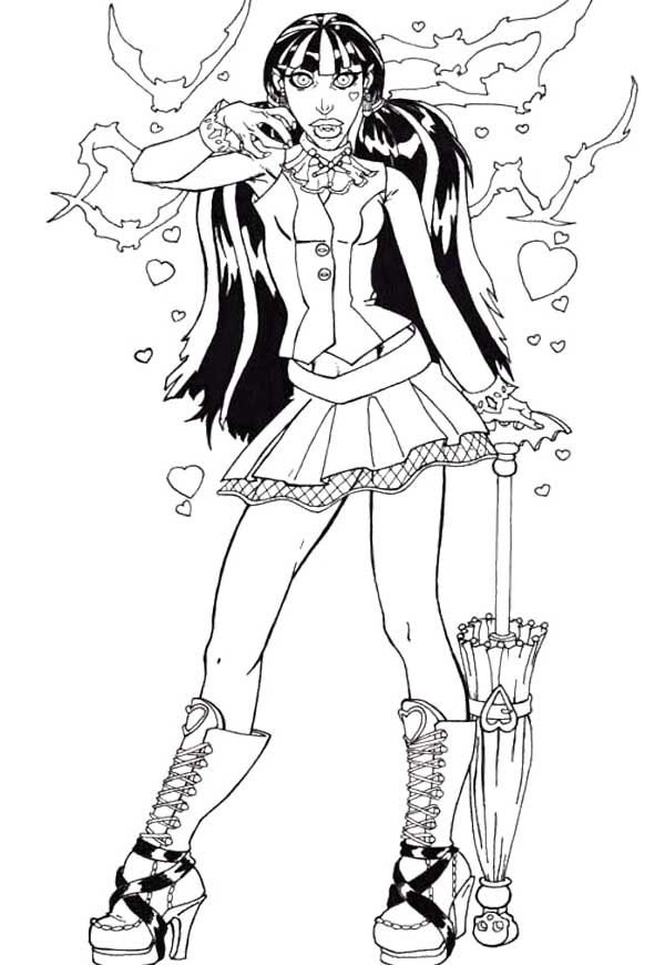monster high draculaura coloring page - Draculaura Coloring Pages