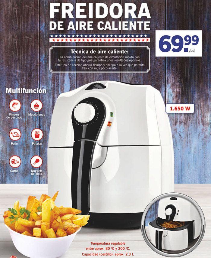 Freidora de aire caliente Lidl de la marca Silvercreset -  Os presentamos uno de los productos más novedosos y más vendidos en Lidl, si te gusta la comida sana y quieres cuidar tu línea piensa en comprar una freidora de aire caliente de Lid. ¿Como cocina está freidora? Gracias al aire caliente, la combinación del aire caliente de circulación rápida con... #Productosdestacados, #ProductosLidl  #SilverCrest Ver en la web : https://ofertassupermercados.es/freidora-ai