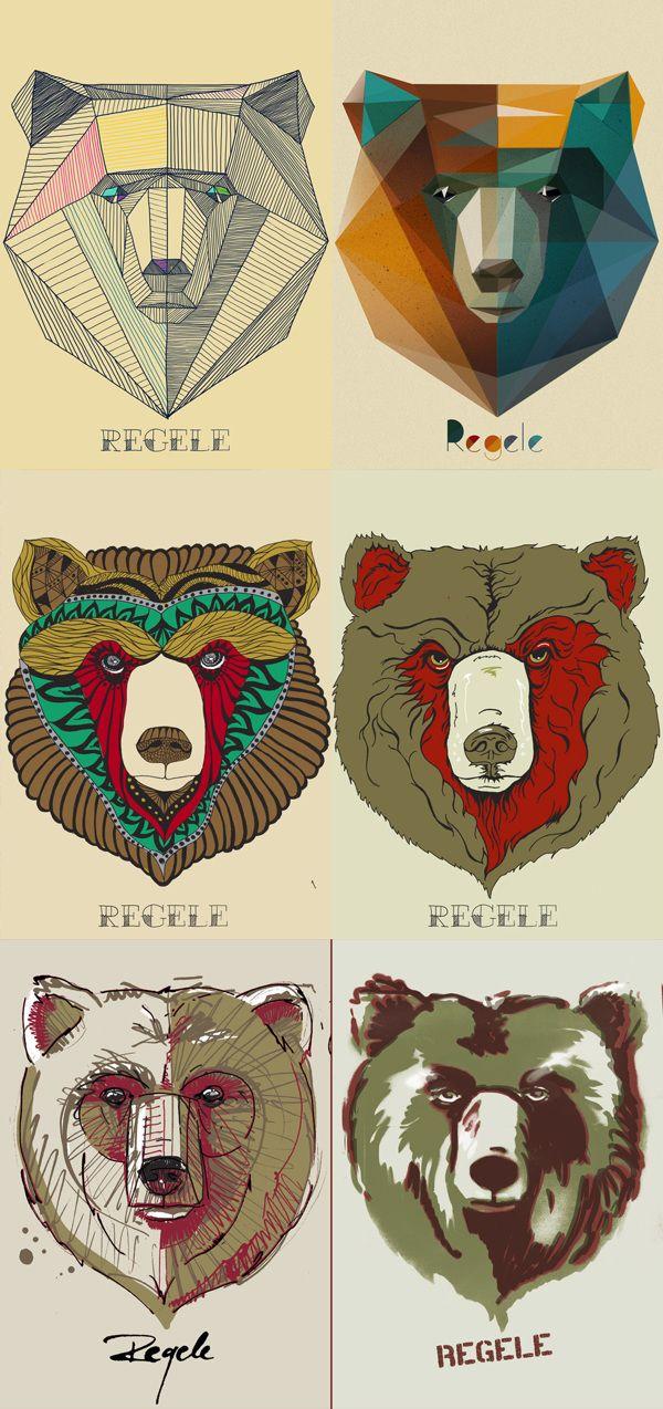 the bears on Behance