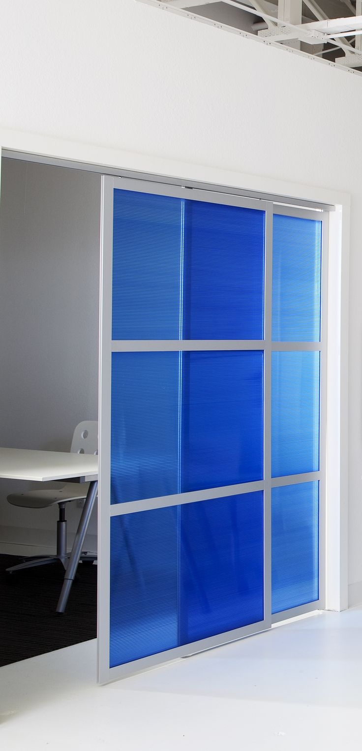 GLIDE Doors With Translucent Panels